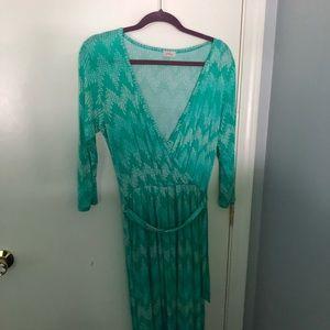 Size L Pixley Green wrap dress